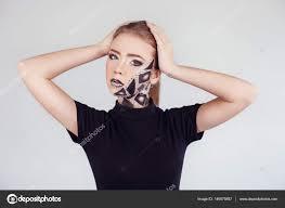 with steunk makeup stock