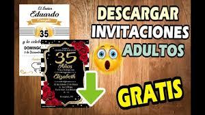 Descargar Invitaciones De Cumpleanos Para Adultos Gratis Youtube