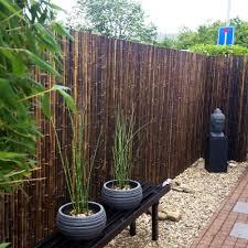 Black Bamboo Fence Roll 250 X 200 Cm In 2020 Bamboo Garden Fences Backyard Fences Bamboo Fence