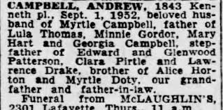 Obituary for CAMPBELL - Newspapers.com