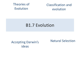 B1.7 Evolution Theories of Evolution Classification and evolution - ppt  download