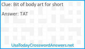 art for short crossword clue