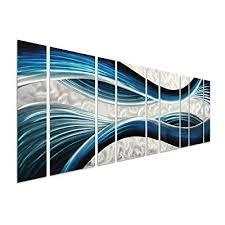pure art blue desire metal wall art