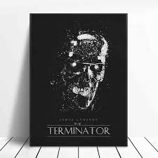 The Terminator Black White Classic Movie Posters Silk Wall Art Decor Painting No Frame Painting Calligraphy Aliexpress