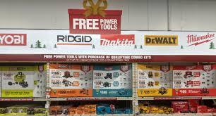 Home Depot Free Bonus Cordless Power Tools Holiday Deals 2019