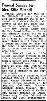 Effie Mitchell's obituary - Newspapers.com