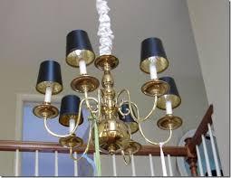 diy brass chandelier makeover in my