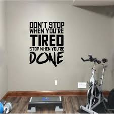 Fitness Sport Exercises Wall Sticker Inspirational Quotes Wall Decals For Gym Room Boys Room Decoration Vinyl Art Decor Art Wall Sticker Art Wall Stickers From Onlinegame 12 66 Dhgate Com