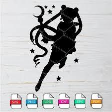 Sailor Moon Silhouette Svg Sailor Moon Clipart