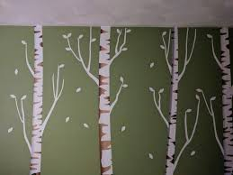 Nurserydecalsnmore Reusable Repositionable White Birch Tree Wall Decals