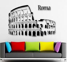 Wall Stickers Vinyl Decal Rome Italy Traveling Tourism Europe Ig966 Ebay