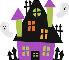 Haunted Clipart Fence Cute Halloween Haunted House Png Download Full Size Clipart 920331 Pinclipart