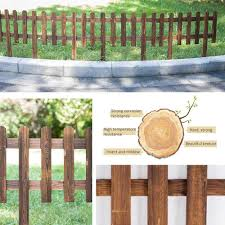 Decorative Fences Home Garden Store Garden Residential Yard Park 62 35cm Volwco Wooden Picket Fencing Instant Fence Panels Picket Border Edge Fence Expanding Freestanding Fence For Lawn Festoon Patio