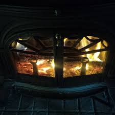 clean wood burning stove glass doors