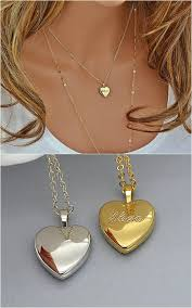 name locket necklace personalized heart