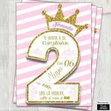 Invitacion De Princesa Para Los 2 Anos De La Nina De La Casa