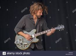 American actor Bradley Cooper filming scenes for his New film A Star Is Born  on the Pyramid stage at Glastonbury festival 2017 Stock Photo - Alamy