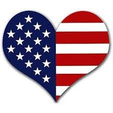 Amazon Com Heart Shaped American Flag Sticker Usa Made Patriotic Patriot Love Arts Crafts Sewing