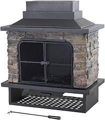 sunjoy cultured stone fireplace