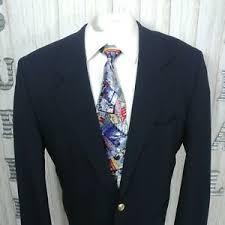 navy blue blazer 2 gold btn sport coat