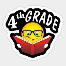 Emoji Book Nerd 4th Grade For Kids Come Back School Gifts Teacher Sticker Teepublic