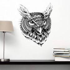Owl Theme Wall Mural Stickers Decals Stencils