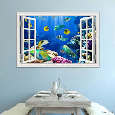 3d Wall Decals Fish Seaworld Large Wall Sticker Nursery Window Decal For Boys Room Baby Room Wall Mural Art Home Decor 24 X36 Wish