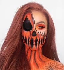 halloween makeup pumpkin e and