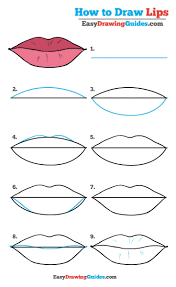 how to draw lips really easy drawing