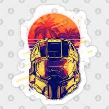 Halo Master Chief Halo Sticker Teepublic Uk