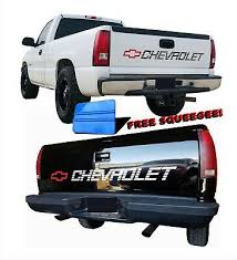 Chevy Decals Chevrolet Vinyl Sticker Silverado 1500 Bed Tailgate Letters 454 Ss 15 99 Picclick