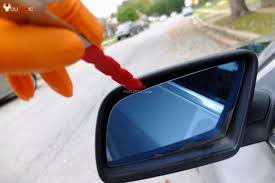 how to change bmw side view mirror glass