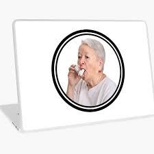 Asthma Grandma Laptop Skin By 3lementalts Redbubble