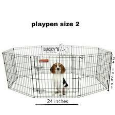 Dog Cage Play Pen Dog Fence Type 8 Panel 2 Feet Shopee Philippines