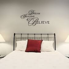 Dream Imagine Believe Inspirational Wall Decal Wallums