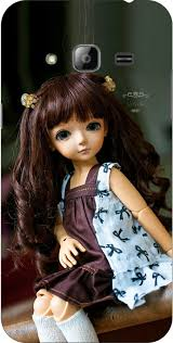dot print cute barbie doll printed back