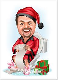 xmas gifts caricature osoq