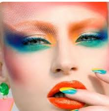 colorful makeup looks beauty and