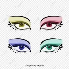 hand painted eye makeup design pattern