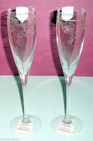 venetian lace crystal champagne flute
