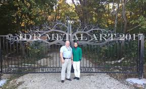 Driveway Gate Planning And Installation Info Guide Custom Driveway Gates Jdr Metal Art Iron Steel Aluminum Home Farm Ranch Estate