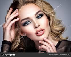 closeup face beautiful makeup