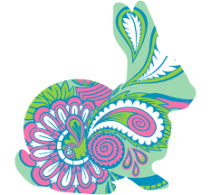 Paisley Rabbit Decal Easter Bunny Shaped Window Stickers