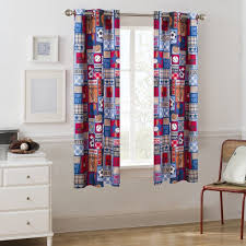 Mainstays Sports Patch Grommet Kids Room Darkening Boys Bedroom Single Curtain Panel Walmart Com Walmart Com