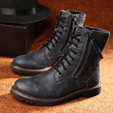 men s boots mid calf fashion motorcycle