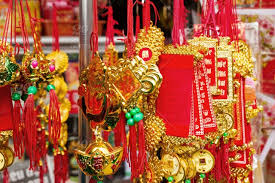 vietnamese new year decorations red and