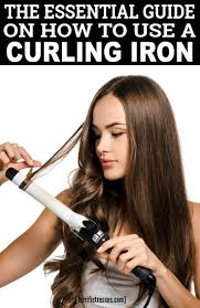 curl your hair with a curling iron