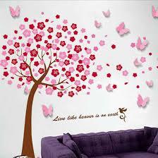 Ebern Designs Huge Tree And 3d Butterfly Wall Decal Reviews Wayfair