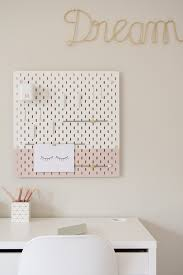 Floral Feature Wall Girls Kids Room Pinboard Desk Minty Magazine