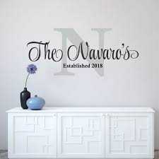 Personalized Family Name Wall Decal Custom Family Name Vinyl Etsy Wall Stickers Family Name Wall Decals Family Wall Sign
